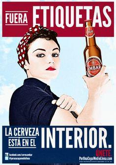 Cartel Cervezas Ambar Zaragozana