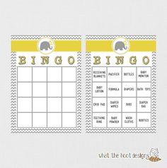 Printable Baby Shower Game  (Bingo)