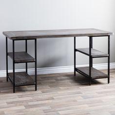 Renate Wood/ Metal Office Desk - 13996331 - Overstock.com Shopping - Great Deals on Desks