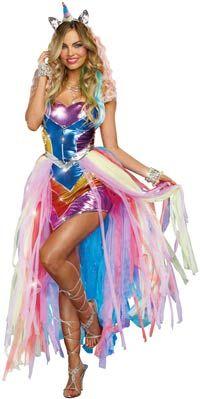 Deluxe Unicorn Fantasy Adult Costume - Unicorn Costumes