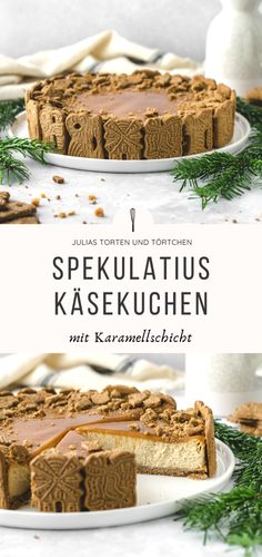 Einfacher SPEKULATIUS KARAMELL KÄSEKUCHEN mit Keksboden Spekulatius caramel cheesecake Recipe for Christmas speculoos caramel cheesecake with biscuit base is therefore quick and easy. Not too sour cheesecake with ricotta and spices. Cheesecake Caramel, Cheesecake Recipes, Cupcake Recipes, Homemade Frappuccino, Frappuccino Recipe, Berry Smoothie Recipe, Easy Smoothie Recipes, Pumpkin Spice Cupcakes, Food Cakes