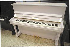 Hobart M. Cable Upright Piano-White Polish