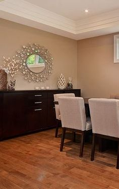 The Como Mirror. Over a hundred small bevelled circular mirrors create a spinning web around a polished center mirror creating a perfectly lavish, whimsical feel. Circular Mirror, Home Reno, Spinning, Mirrors, Whimsical, Budget, Create, Wood, Table