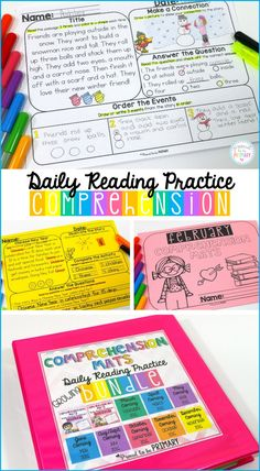 The Comprehension Mats resources teachers with reading passages and follow-up activities to help build student fluency and comprehension skills. Seasonal and themed fiction and non-fiction stories included. Great for classroom literacy centers, morning work, and small groups.