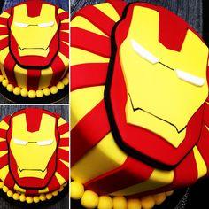 #ironman #cake #pastel #tortaalta #torta #ganache #chocolate #libertinacandybar #dulcedeleche #careta #mascara #superheroe #hombredeacero #vainilla #quieroeso #yummy #delicioso
