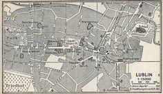 Plan Lublina wydany przez i dla Niemców w 1943 r. Central Europe, World War Ii, Poland, How To Plan, City, History, World War Two, Ignition Coil