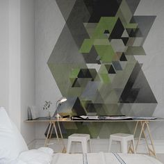 Painéis Fotográficos - Art - Painel Fotográfico Fractal, Green