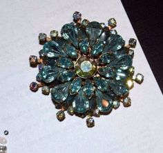 Beautiful Large one of a kind Antique Brooch