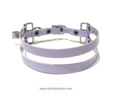 "New ""Suspension"" choker. Available in black, hot pink and lavender vegan patent leather"