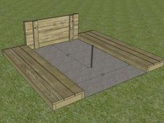 DIYNetwork.com has detailed instructions on how to build a backyard horseshoe pit.