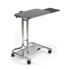 "Laptop Cart with Mouse Pad in Chrome and Black Finish by Studio Designs by Studio Designs. $82.21. Multifunction Cart. (5) Height Adjustments from 30 to 37. Main Work Surface: 20 x 18.5. Overall Dimensions: 20 W x 18.5 D x 26 ~ 36.5 H. Tempered Safety Glass. ""Overall Dimensions: 20 W x 18.5 D x 26 ~ 36.5 H Main Work Surface: 20 x 18.5 (5) Height Adjustments from 30 to 37 Multifunction Cart Tempered Safety Glass Sliding Mouse Pad W/Cup Holder: 20"""" x 9"""" Bottom Shelf : 19.5"""" x 7...."