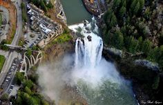 Salish Lodge and Snoqualmie Falls by Long Bach  Nguyen, via 500px