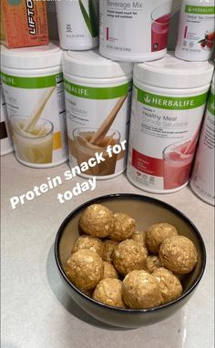 Herbalife Meal Plan, Herbalife Protein, Herbalife Shake Recipes, Healthy Protein Shakes, Protein Mix, Protein Shake Recipes, High Protein Snacks, Herbalife Nutrition, Protein Ball