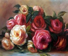 Renoir, Discarded Roses   placed 7th in overstockart.com Top 10 Most Romantic Oil Paintings for Valentine's Day 2015.  #art