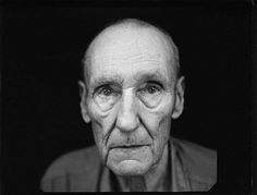 William S. Burroughs in his garage, Lawrence, Kansas, 1995 photo by Annie Leibovitz