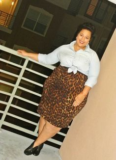 Ode to the Leopard Skirt #plussize
