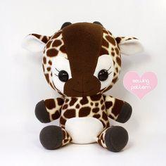 PDF sewing pattern Giraffe plush cute easy cute von TeacupLion