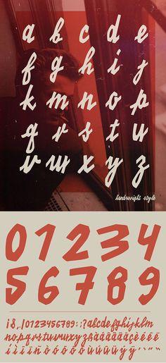 KINO 40 Font Letters #freefonts #fontsfordesignes #newfonts #freefonts2014