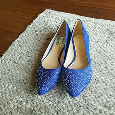 Brand New, Never Worn BCBG Suede Flats with Silver Studs BCBG Shoes Flats & Loafers