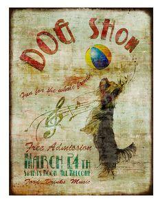 """The Toto Show"" by Sofia Fox vintage yorkie print"