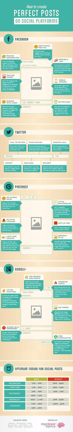 How to Create Perfect Posts on Social Platforms [INFOGRAPHIC]