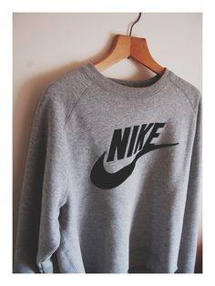 Oversized grey and black nike sweatshirt