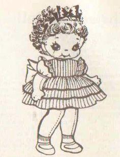 domínio público encaracolado coberto padrão de boneca