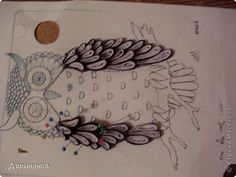 quilling owls | Painting mural drawing master class Quilling Night Owl Paper quilling ...