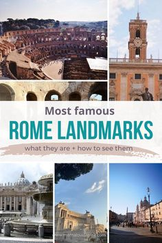 Your guide to the most famous Rome landmarks: the most famous monuments in Rome and the tips you need to visit Rome most famous sights