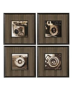 Uttermost Wall Art, Set of 4 Click Framed Photo Prints - Wall Art - for the home - Macy's