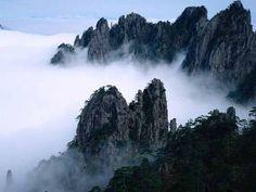 """Mount Huashan """"mount hua"""" in Xi'an"""