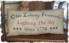 Olde Liberty Fireworks Country  Primitive by oldetimegatherings, $7.49
