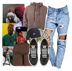 """Lil Yachty Inspired "" by shamyadanyel ❤ liked on Polyvore featuring Coveroo, Boohoo, See You Never, adidas Originals and Vans"