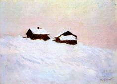Claude Monet 1895 Houses in the Snow, Norway
