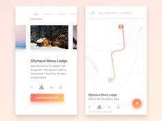 Navigation App Interface by Dimas Wibowo