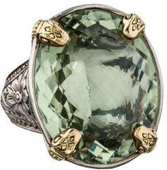 Konstantino Green Amethyst Snake Ring