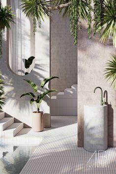 Bathroom Interior Design, Interior Decorating, Exterior Design, Interior And Exterior, Dream Home Design, House Design, House Goals, My New Room, Cabana