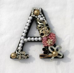Pretty - gave me an idea to buy the large size letters and decorate them as accent for my walls.