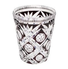 Val Saint Lambert crystal vase.