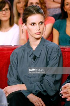 """Actress Marine Vacth presents the Movie """"Belles familles"""" during the 'Vivement Dimanche' French TV Show at Pavillon Gabriel on September 2015 in Paris, France. Get premium, high resolution news photos at Getty Images Soft Summer Color Palette, Normcore Fashion, Cute Comfy Outfits, Musa, Celebrity Beauty, Supermodels, Outfit Of The Day, Autumn Fashion, Style Inspiration"""