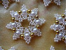 Dekorácie - Hviezdička biela - 3035390