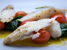 Monkfish with confit tomatoes