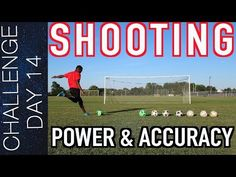 This video gives you a few pointers on power but the majority of the video focuses on accuracy/placement. Football Training Program, Soccer Training, Training Programs, Soccer Shooting Drills, Soccer Drills, Training Videos, Soccer Ball, Pointers, Running Shoes
