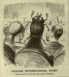 A hair raising creation by Linley Sambourne, published in Punch 10 April 1869
