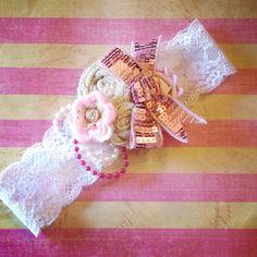 Order cute little lace headbands from my shop! www.facebook.com/head.hugs4u