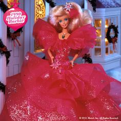 1990 holiday barbie flashback - I had her at one time. It was stolen. :(