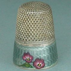 RARE Antique French Enameled Pansies Band Silver Thimble Early 20th Century | eBay May 21, 2013 / US $340.00 / 11,207.44 RUB