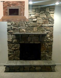 Fireplace facelift. From boring to beautiful!