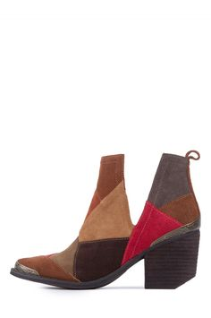 Jeffrey Campbell Shoes ORWELL-PTC New Arrivals in Brown Suede Multi