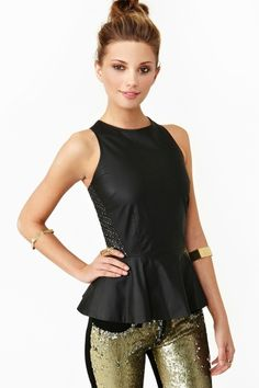 Starry Peplum Top. love this style top